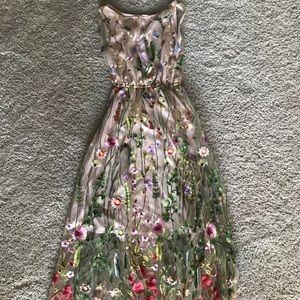Eva franco embroidered floral dress